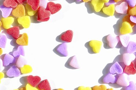 confections: Heart-shaped candy