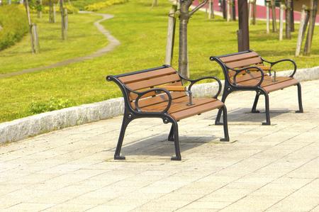 banc de parc: Banc de parc Banque d'images