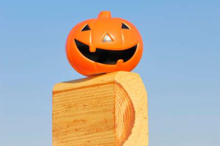 jackolantern: Jack-O-Lantern on a piece of wood