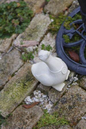 white duck: White Duck sculpture