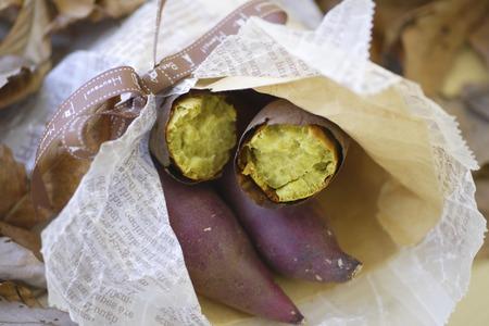 sweet potato: Baked sweet potato Stock Photo