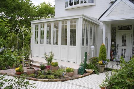 casa blanca: White House Conservatory Foto de archivo