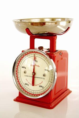 color scale: Red color kitchen scale of Stock Photo