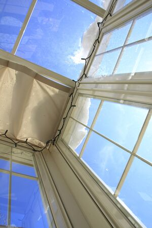 sunroof: Blue Sky visible from the sunroof of the Conservatory