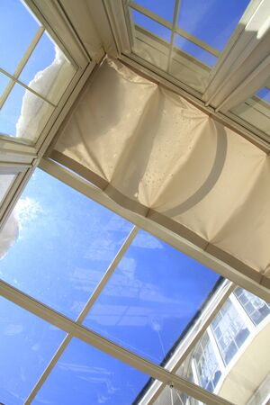sunroom: Blue Sky visible from the sunroof of the Conservatory