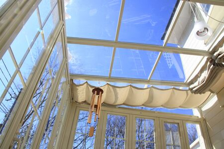 Blue Sky visible from the sunroof of the Conservatory