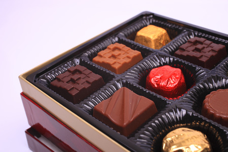 boxed: Boxed chocolate