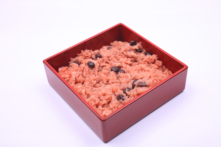 bean family: Red rice entered the food Stock Photo