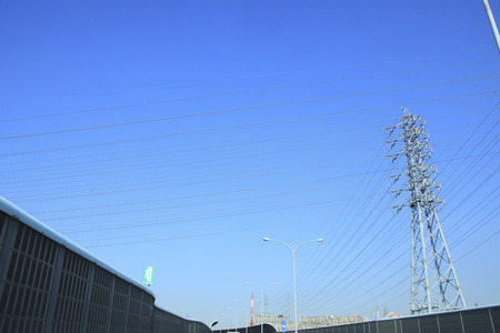 high speed: High speed road and blue sky Stock Photo