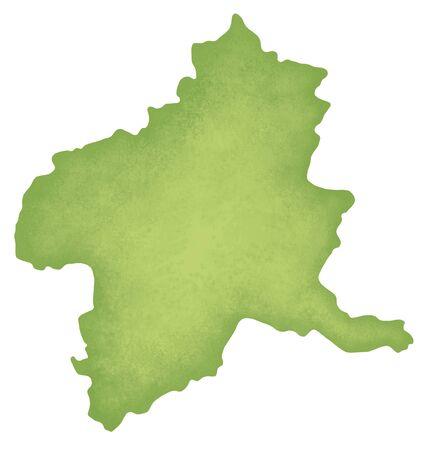 kanto: Gunma Prefecture map