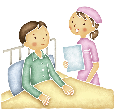 Patients and nurses Stock Photo