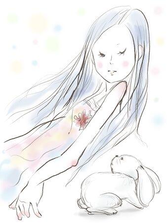 white rabbit: White rabbit and I