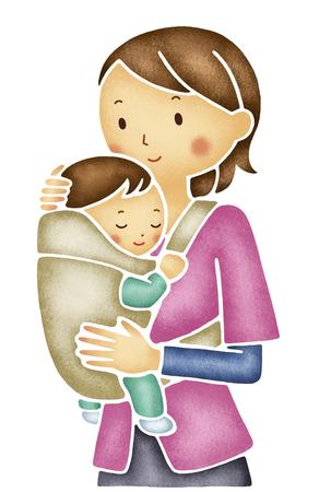 sling: Mom to hug a baby sling
