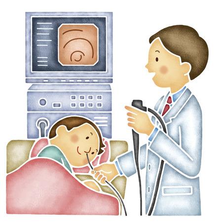 Men who undergo the examination of stomach camera