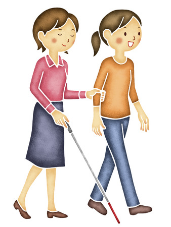 visually: Walking aid the visually impaired Stock Photo