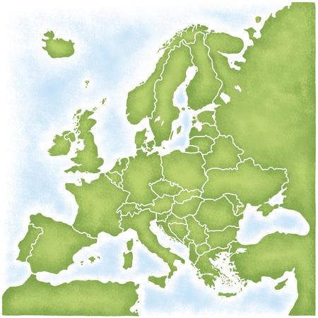 Karte von Europa Standard-Bild - 46401541