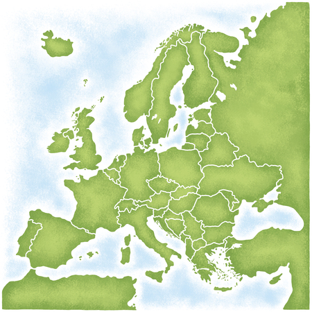 baltic: Map of Europe Stock Photo
