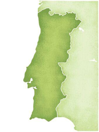 portugal: Portugal map