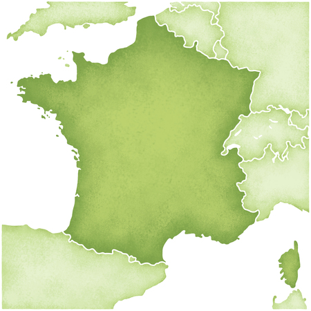 France Map Stock Photo