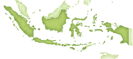 Indonesia Map Stock Photo