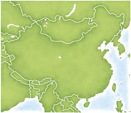 kyrgyz republic: China and the map of its surroundings