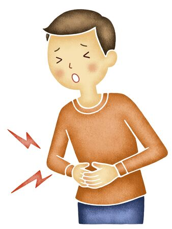 abdominal pain: Men who suffer from abdominal pain