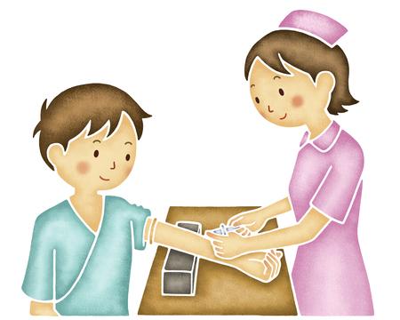 sampling: Nurse to blood collection