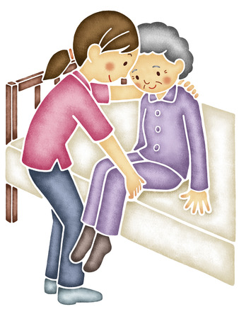 cause: Caregiver that cause the elderly of the body