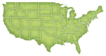 アメリカ合衆国の地図 写真素材
