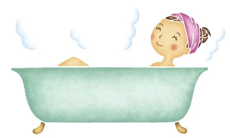 Vrouwen die een bad nemen Stockfoto