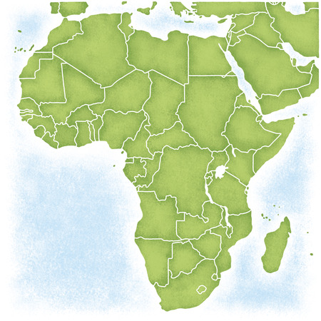its: Africa and the map of its surroundings