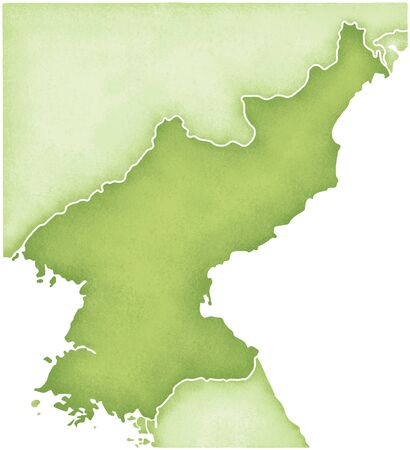 peninsula: North Korea Map Stock Photo