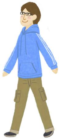 cargo pants: The walking man