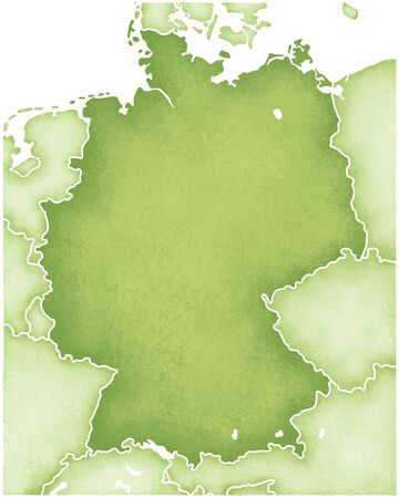 Germany Map Standard-Bild