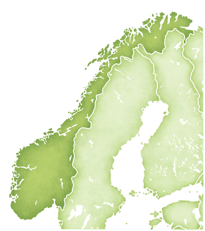 norway: Norway map Stock Photo