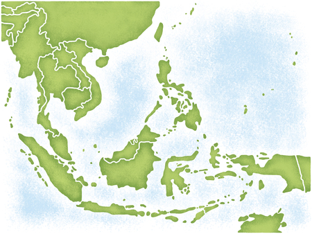 asia pacific map: Southeast Asia Map Stock Photo