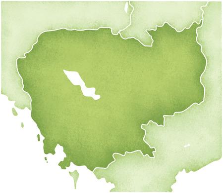 cambodia: Cambodia map Stock Photo