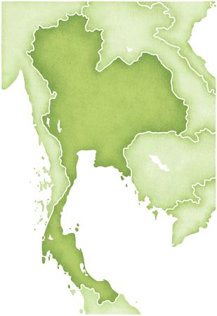 indochina peninsula: Thailand Map