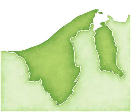 brunei: Brunei Map Stock Photo