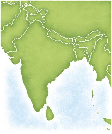 インドとその周辺の地図