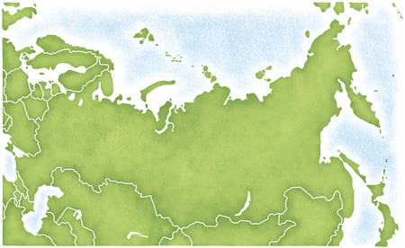 its: Russia and the map of its surroundings