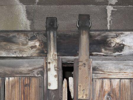 wicket door: Old days of hanging pulley of sliding door