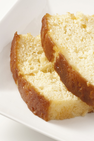 indulgent: Pound cake Stock Photo