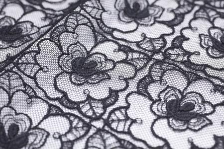black ancestry: Handkerchief of black lace