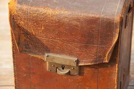 leather bag: Old leather bag