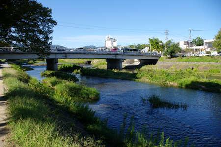 上賀茂御園橋 写真素材