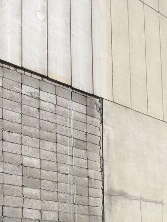 ブロック壁、ALC の壁材質 写真素材