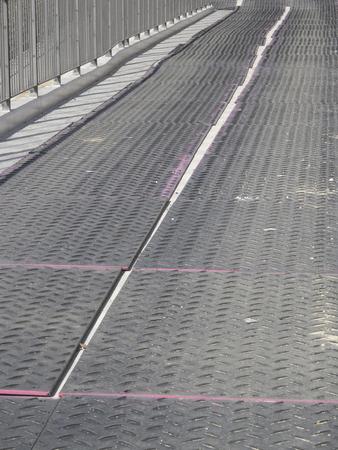 rubber sheet: Rubber sheet to protect the pedestrian street