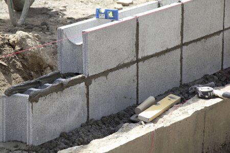 コンクリート ブロックをロードします。 写真素材