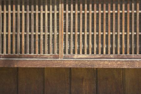 lattice window: Window of lattice of Japanese-style building